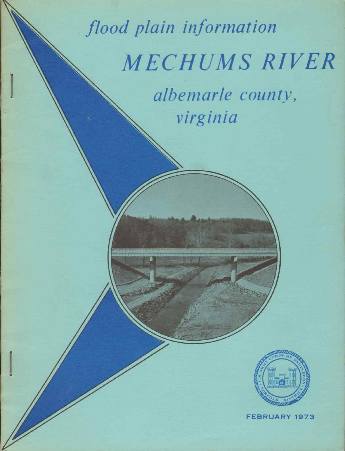 Image for FLOOD PLAIN INFORMATION - MECHUMS RIVER Albemarle County and Charlottesville, Virginia
