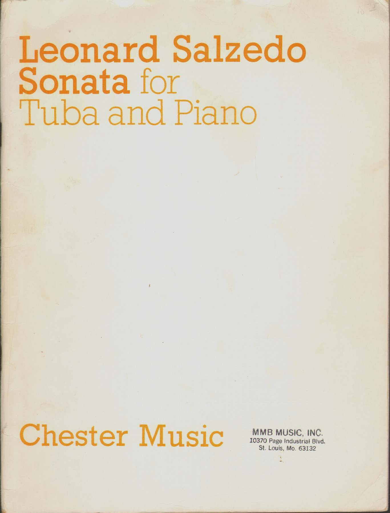 Image for SONATA FOR TUBA AND PIANO