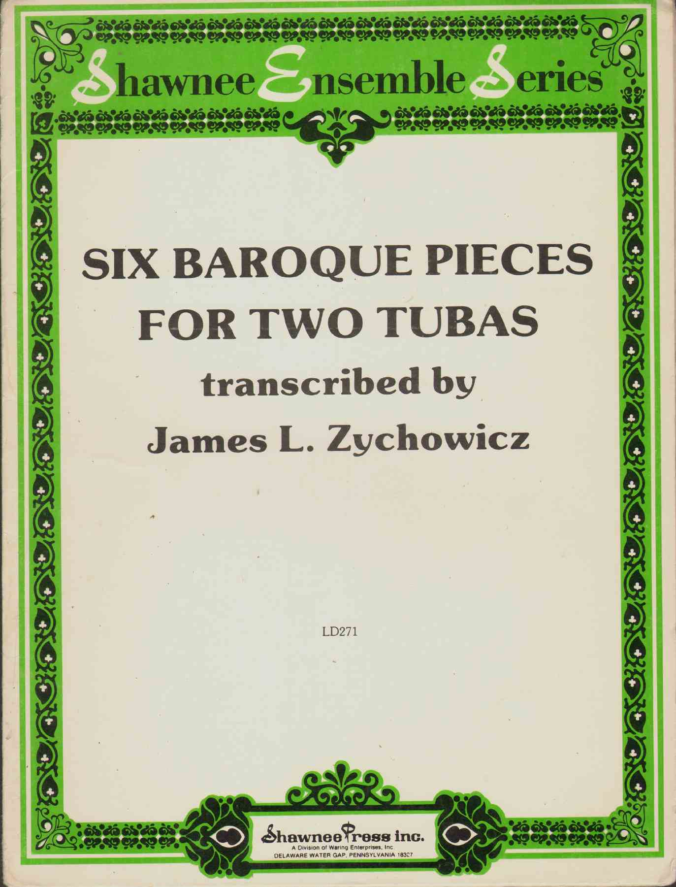 Image for SIX BAROQUE PIECES FOR TWO TUBAS