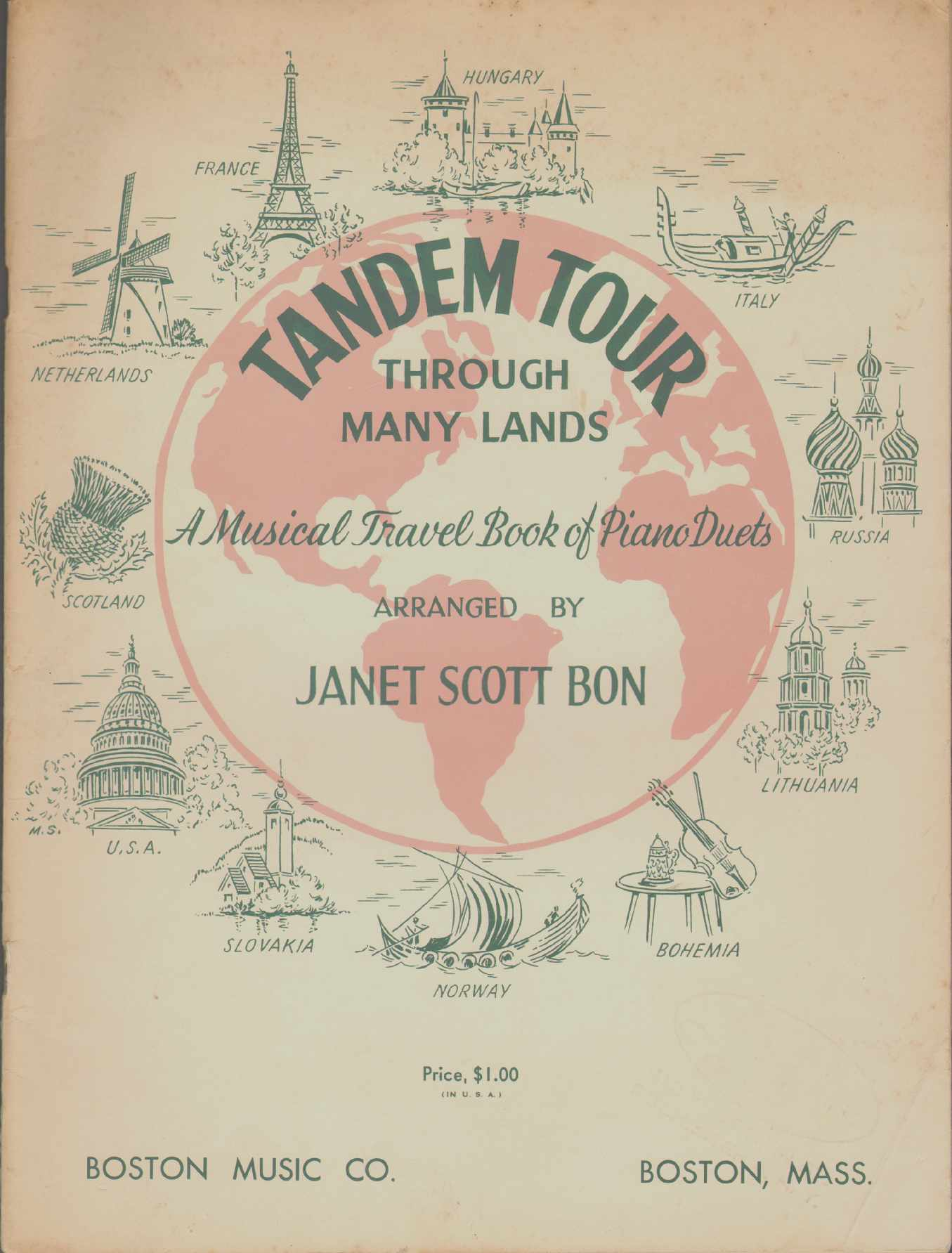 Image for TANDEM TOUR THROUGH MANY LANDS A Musical Travel Book of Piano Duets
