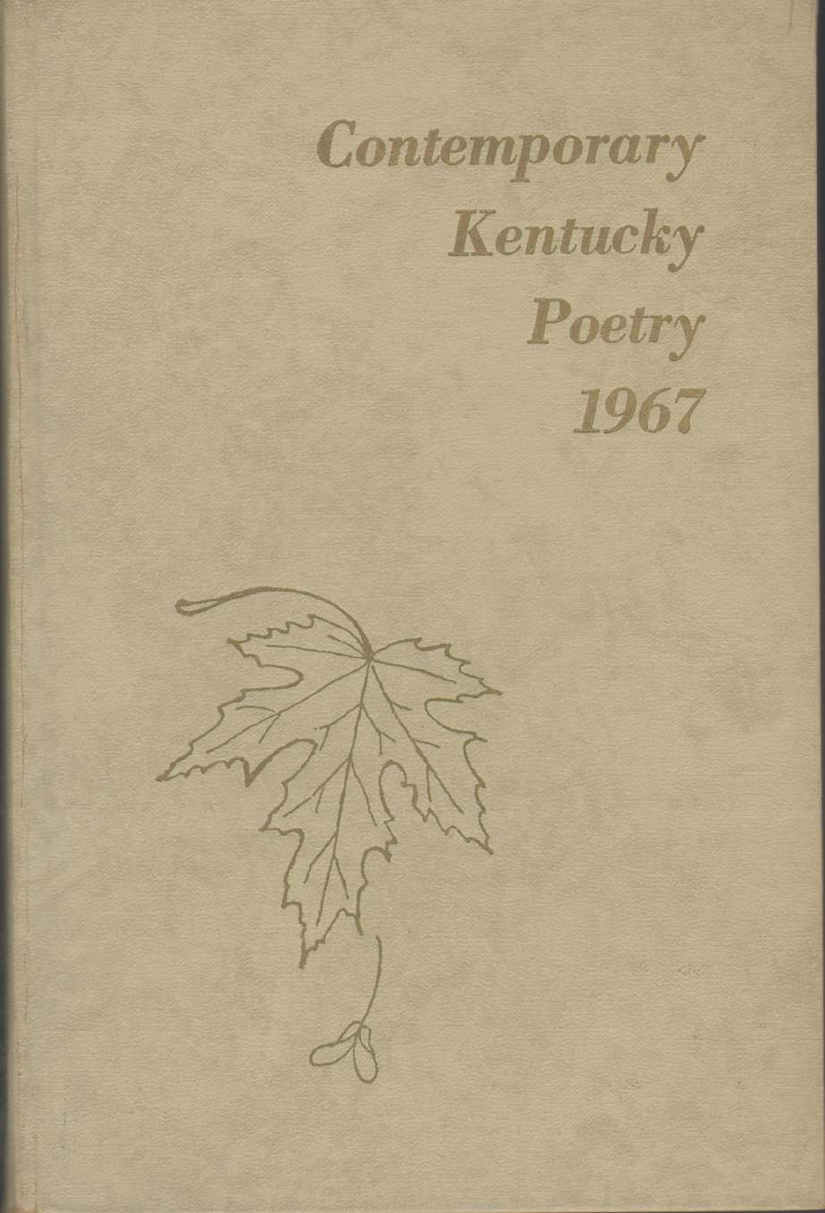Image for COMTEMPORARY KENTUCKY POETRY 1967