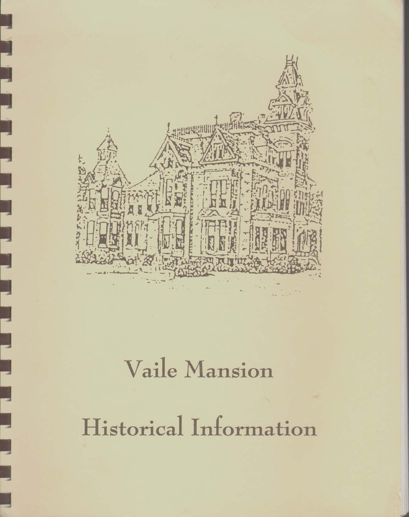 Image for VAILE MANSION HISTORICAL INFORMATION