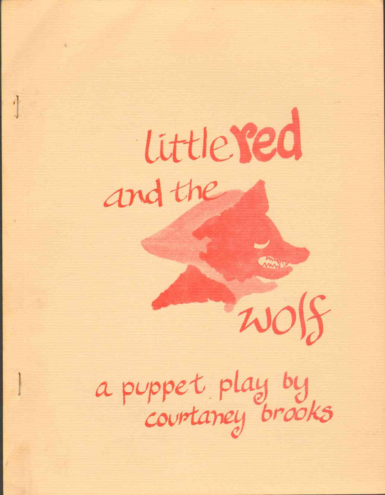 Image for LITTLE RED AND THE WOLF A Puppet Play