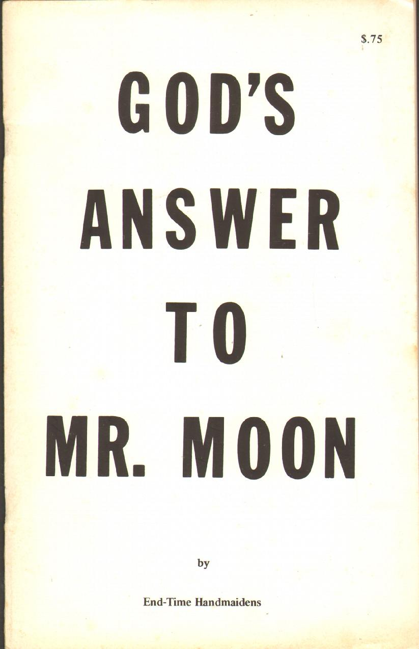 Image for GOD'S ANSWER TO MR. MOON
