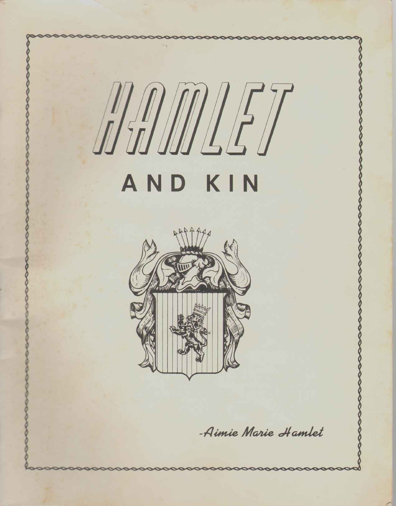 Image for HAMLET AND KIN