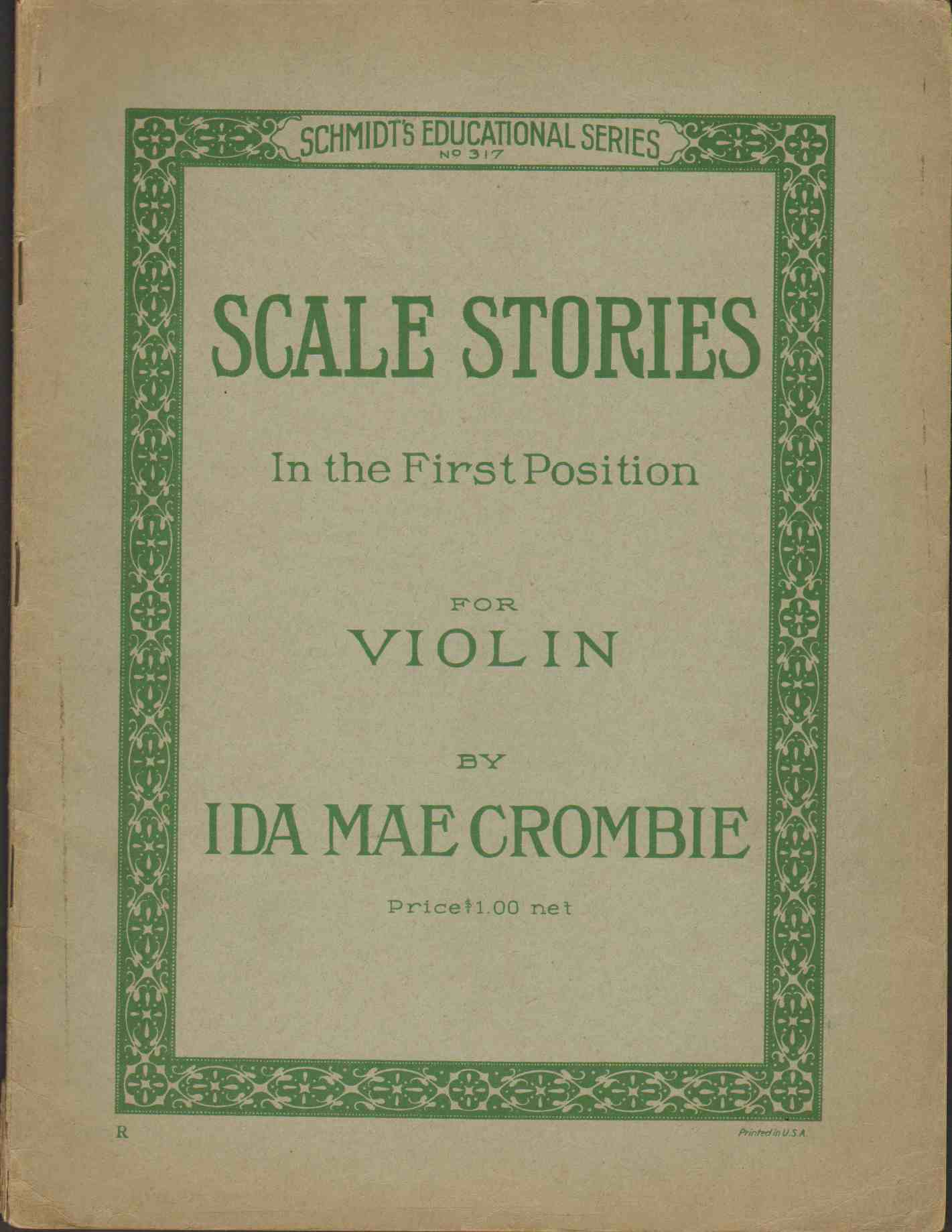 Image for SCALE STORIES IN THE FIRST POSITION FOR VIOLIN