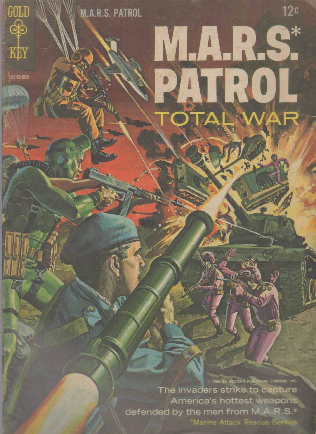 Image for M.A.R.S. PATROL TOTAL WAR #3 1966 Series