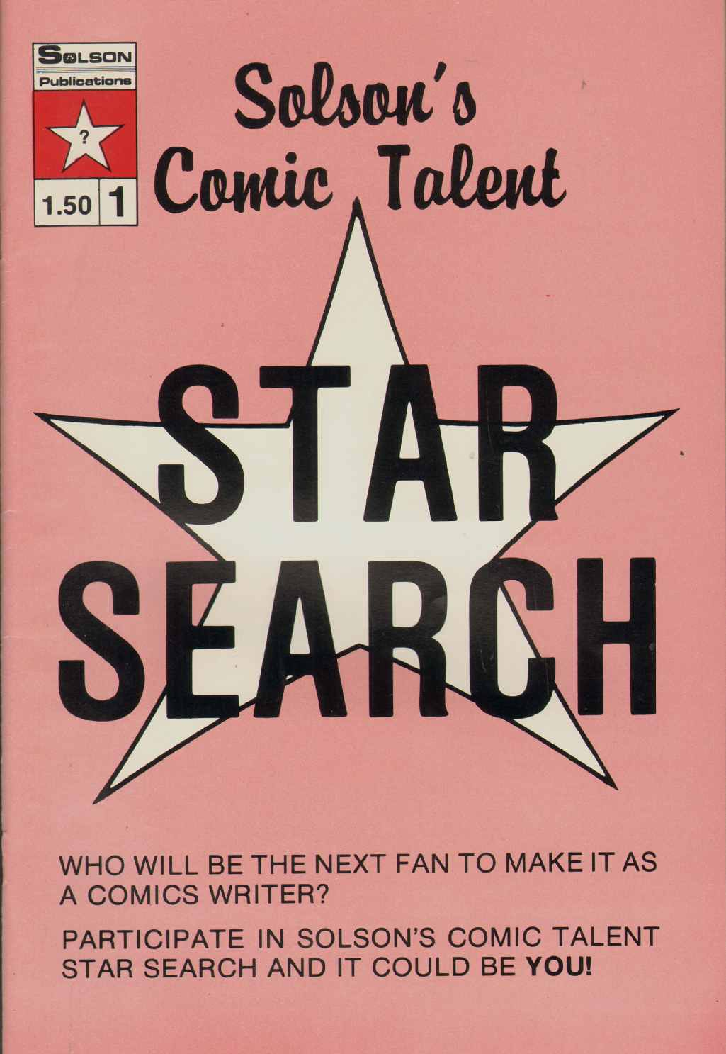 Image for SOLSON'S COMIC TALENT STARSEARCH Number 1